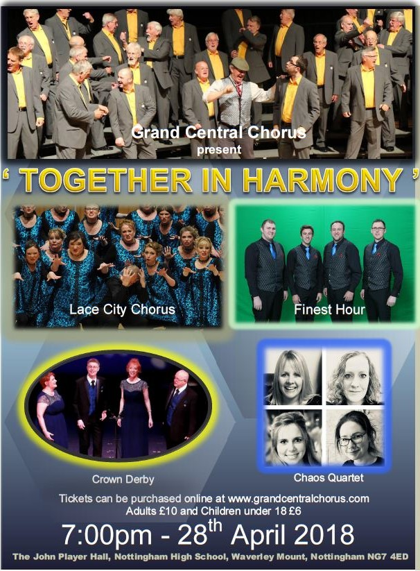 """Together in Harmony"" show, with guests Lace City Chorus"