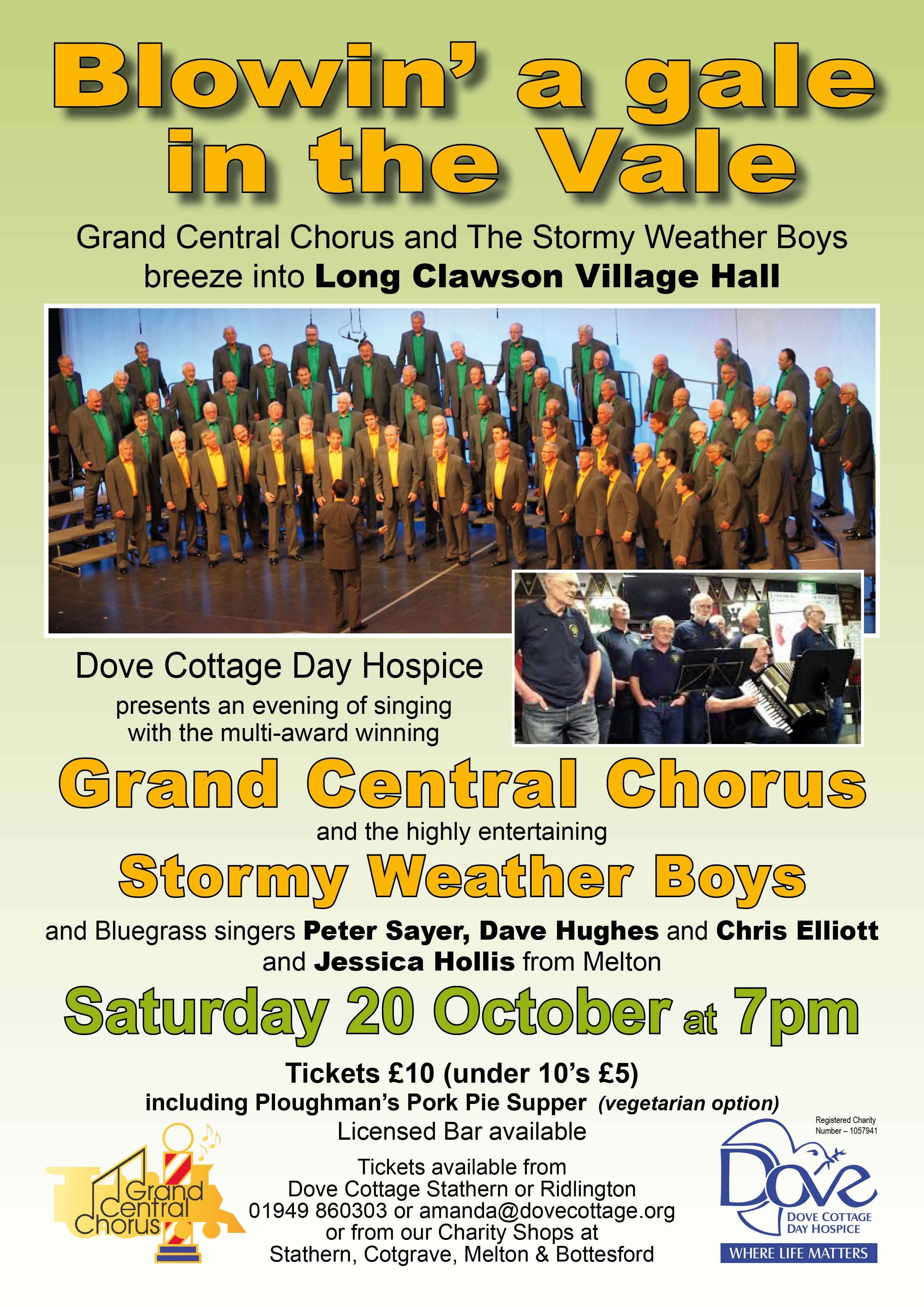 "We'll be ""Blowin' a gale in the Vale"", Saturday October 20th"